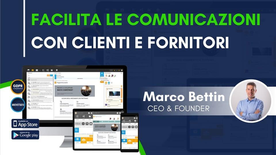 Facilita le comunicazioni con clienti e fornitori