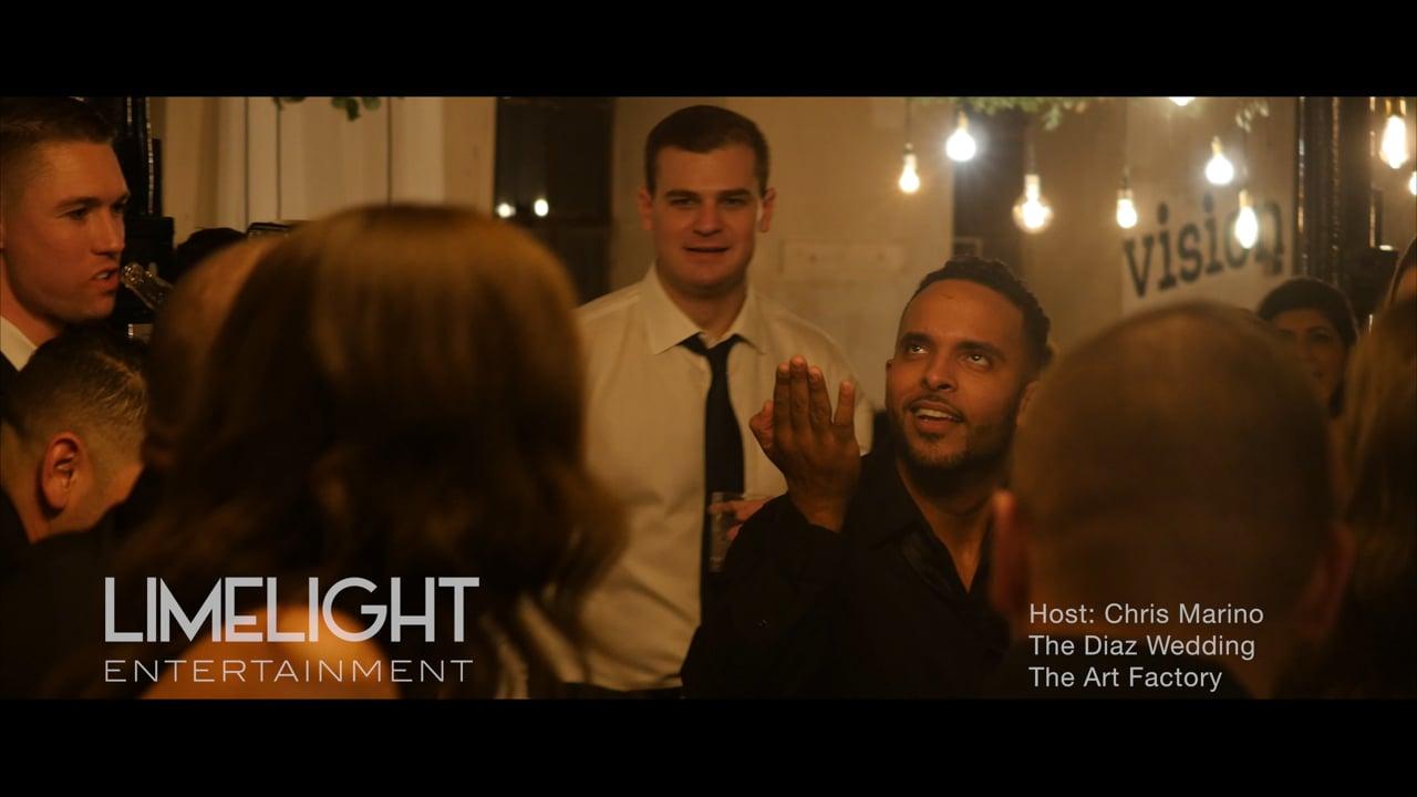 The Diaz Wedding   The Art Factory   Chris Marino of Limelight Entertainment