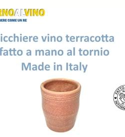 Vidéo: Verre à vin en terre cuite 25 Cl, artisanal