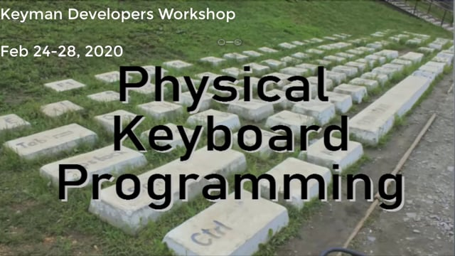 Keyboard programming
