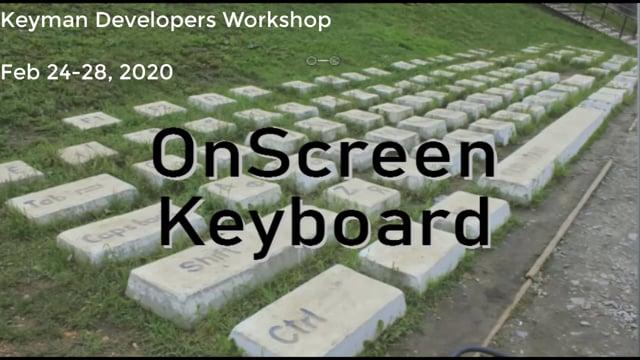 The Onscreen Keyboard