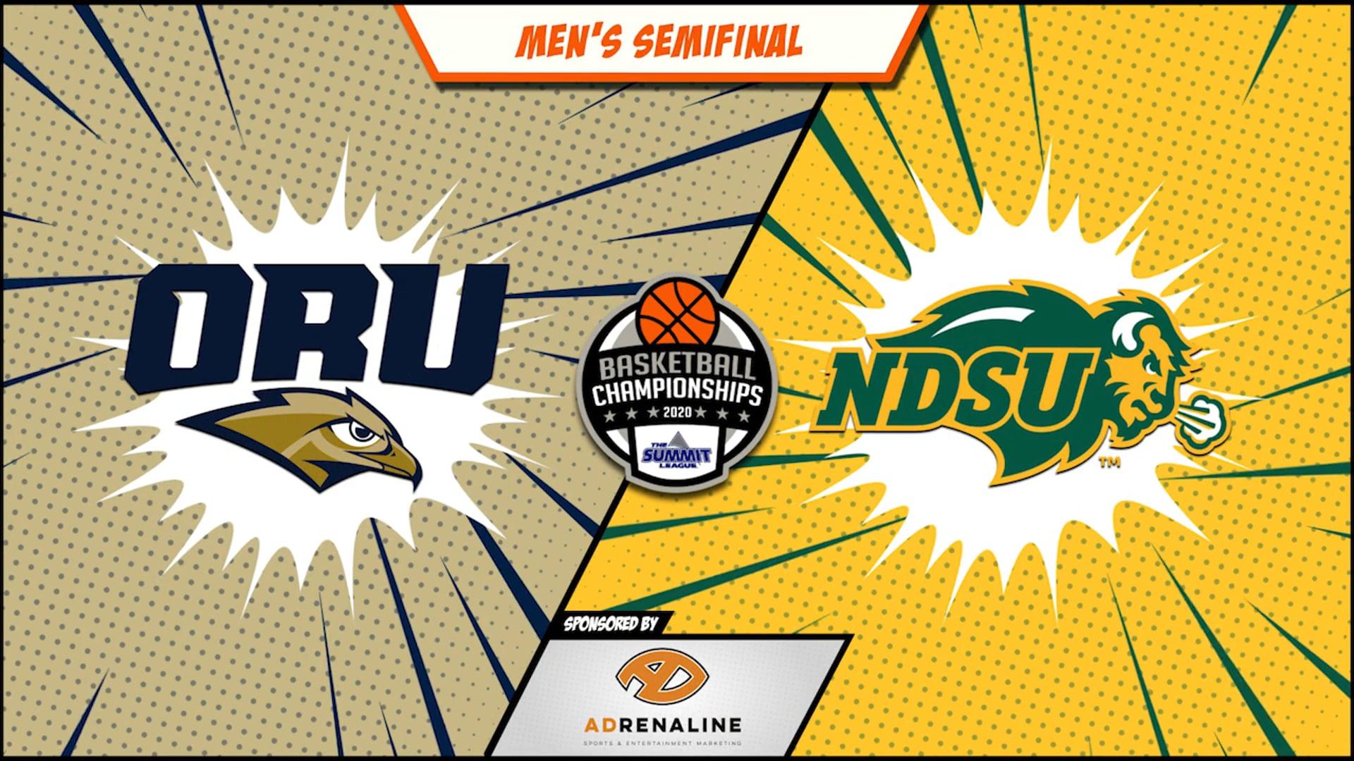 2020 Summit League Men's Round 2 - Oral Roberts vs North Dakota State