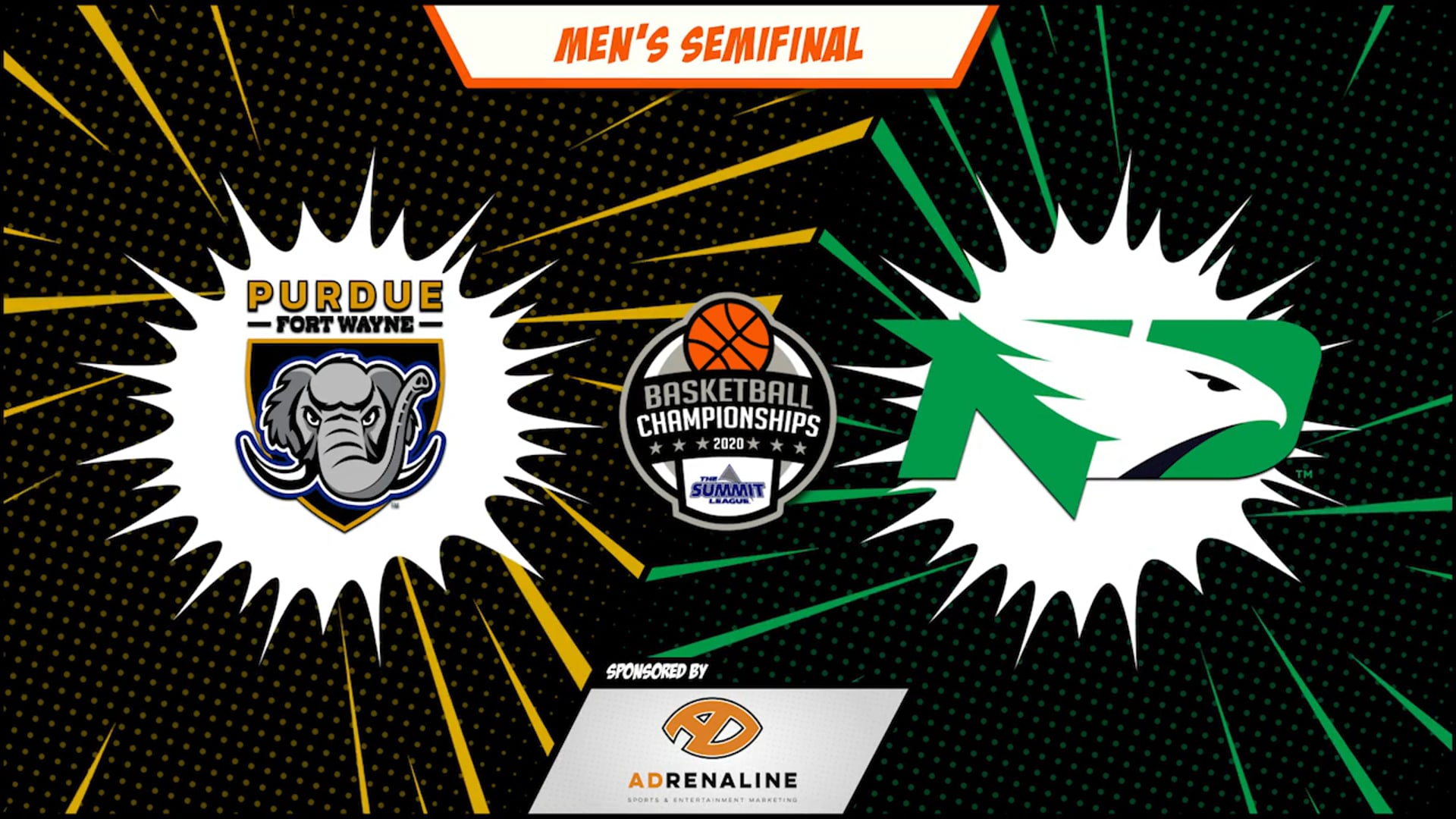 2020 Summit League Men's Round 2 - Purdue Fort Wayne vs North Dakota