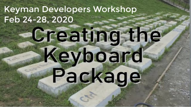 Creating the Keyboard Package