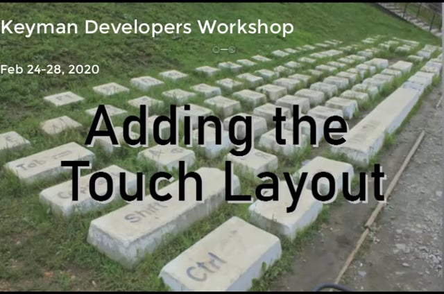 Adding Touch Layout