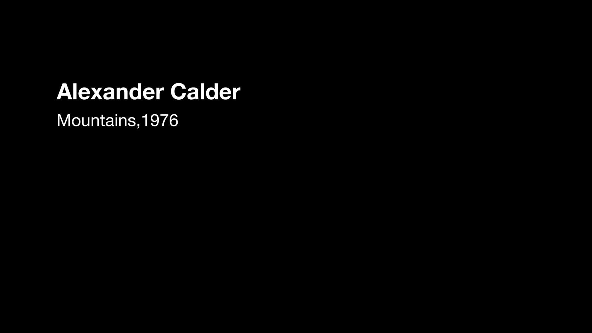 Alexander Calder, Mountain 1976