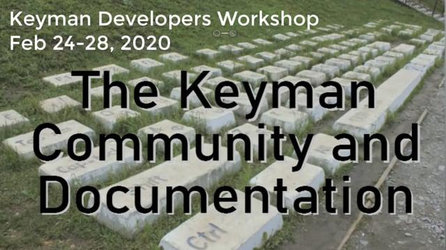 Keyman Community and Documentation