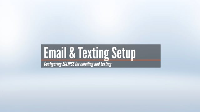 Email and Texting Setup