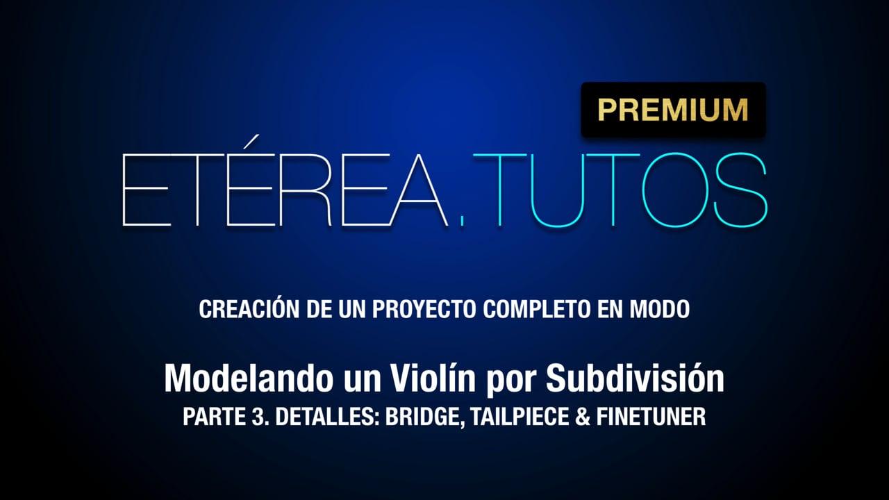 Tutorial Violín - Modelando un violín por subdivisión, con Modo - 3/4