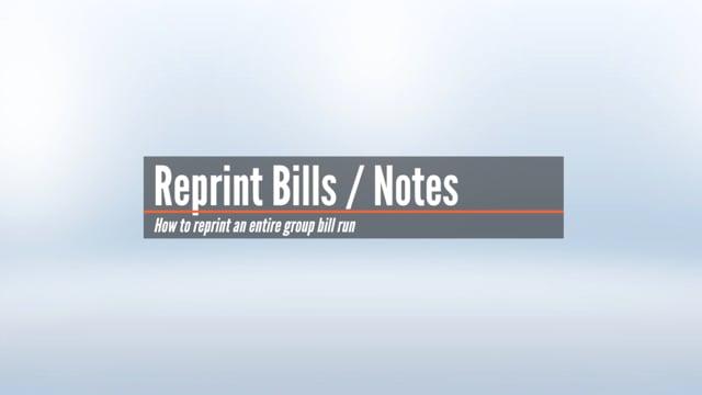 Group Reprint of Bills & Notes