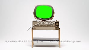 1689B Vintage Philco Predicta Siesta TV WS centered green screen replacement