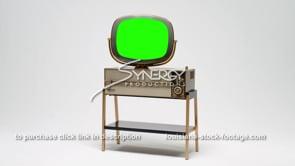 1690 Retro tv Philco predicta Siesta wide shot green screen replacement video