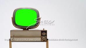 1692 Philco Siesta vintage television tv set left justified green screen