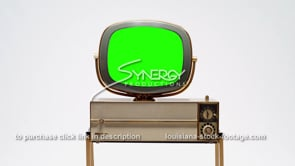 1693 Vintage television Philco Siesta Predicta tv green screen