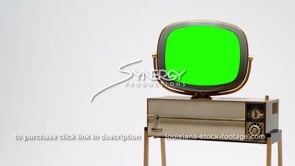 1694 Nice Philco Predicta Siesta tv ms angled right justified green screen chroma key