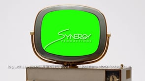 1701 eames era design Philco Predicta Siesta cu green screen