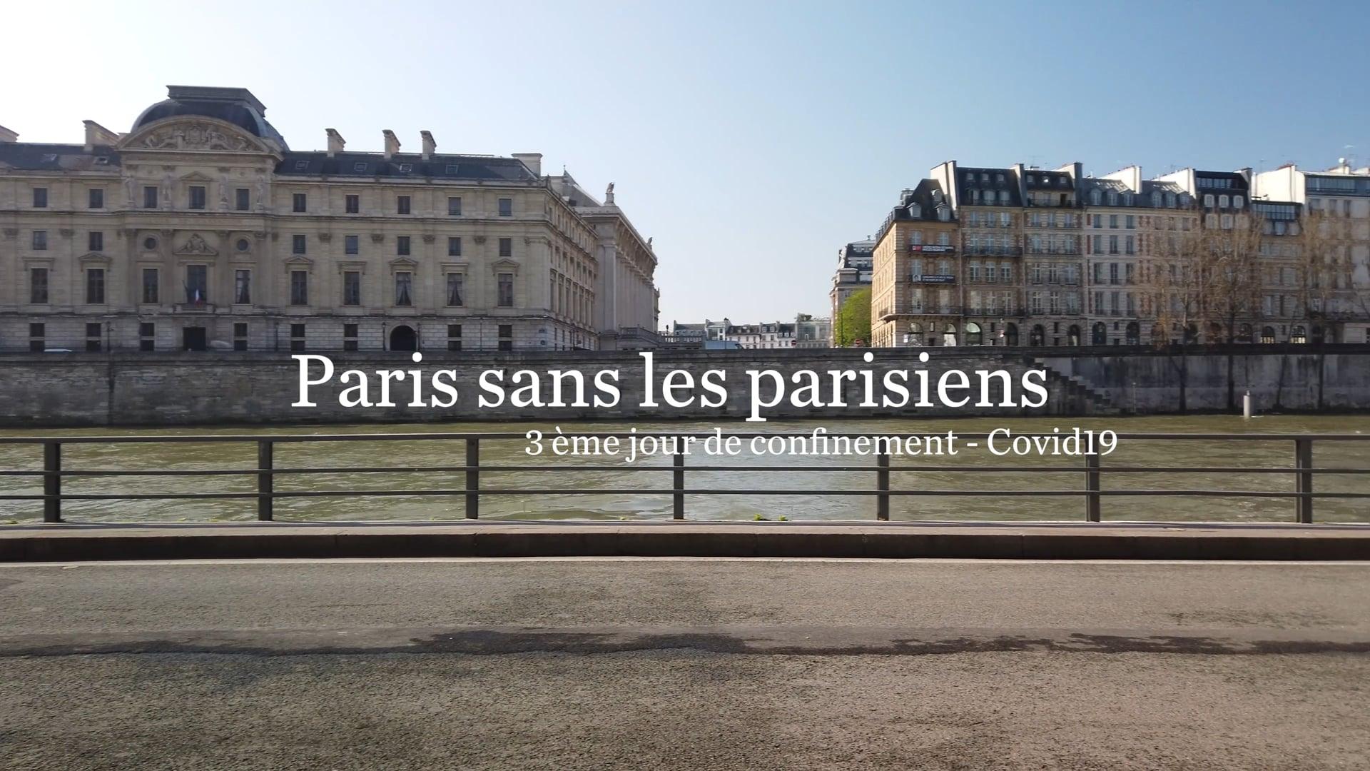 Paris sans parisiens. Prèmiere semaine de confinement COVID-19