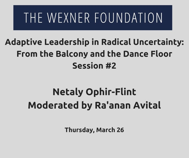 Adaptive Leading in Radical Uncertainty: From the Balcony and the Dance Floor Session #2