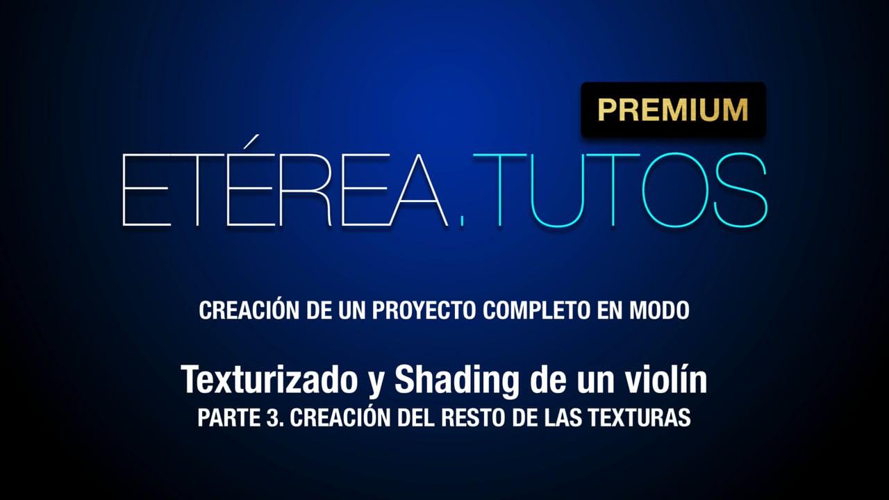 Tutorial Violín - Texturizado y shading de un Violín con Modo - 3/5