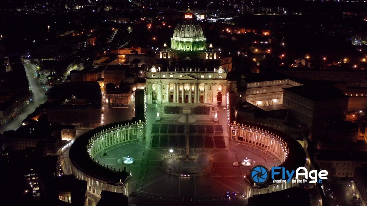 """Roma """"Tricolore"""" vista dal Drone"""