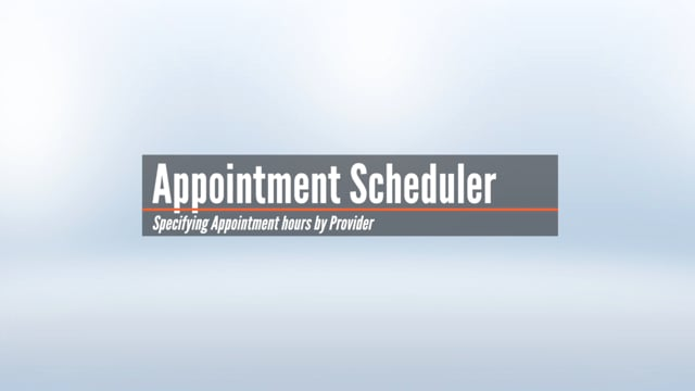 Setting Office Hours in the Appointment Scheduler