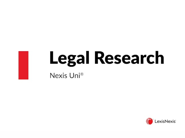 Using Nexis Uni for Legal Research ES WB