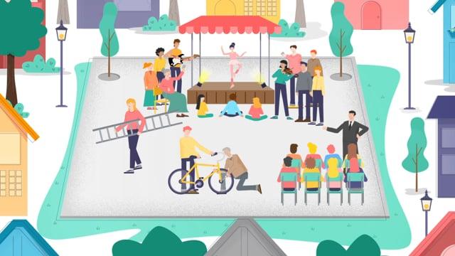 Erklärvideo-Fallbeispiel: Digitaler Dorfplatz von Crossiety
