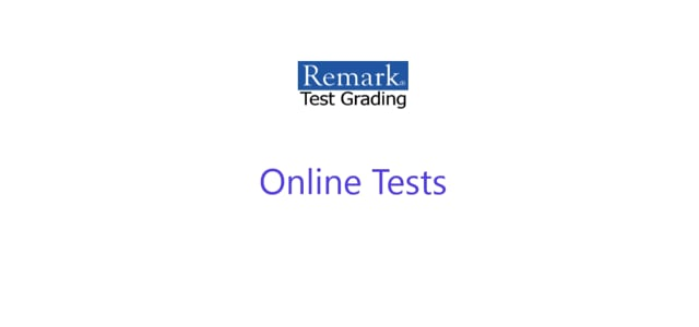 Remark Test Grading Cloud - Online Tests
