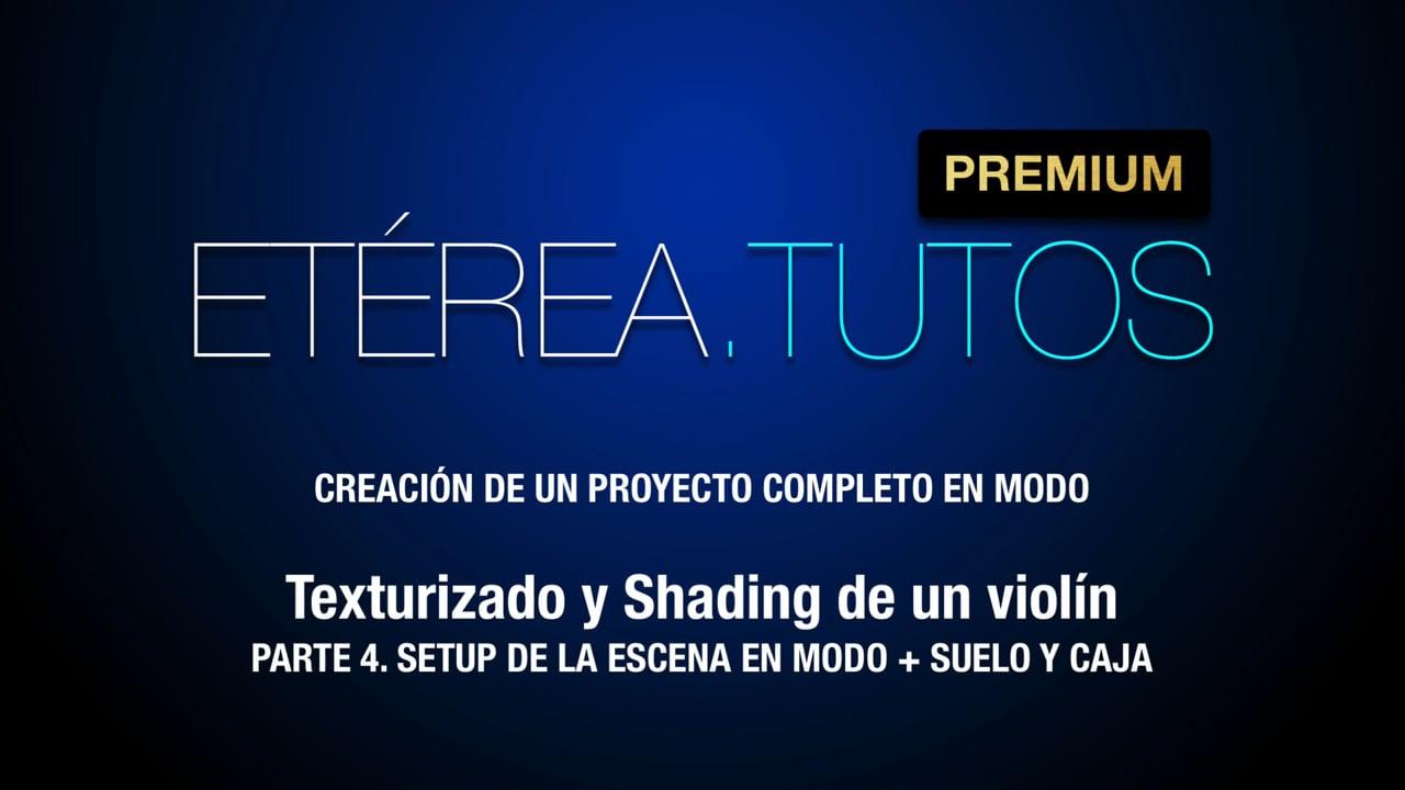 Tutorial Violín - Texturizado y shading de un Violín con Modo - 4/5