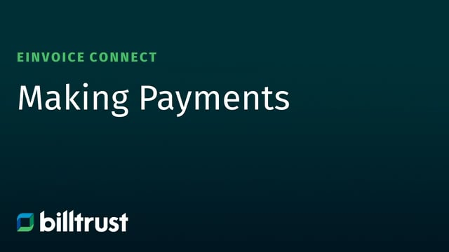 eInvoice Connect - Making Payments
