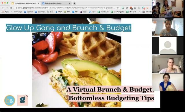 A Virtual Brunch & Budget