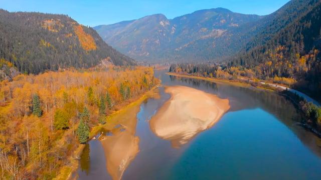 Fascinating Aerial Views of Canada. Highway 99, British Columbia