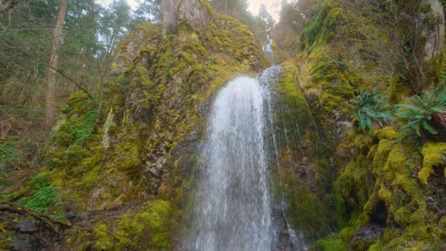 Oregon Waterfalls. Wintertime