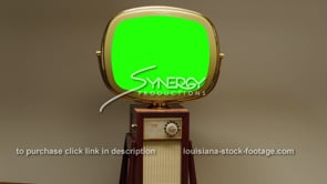 1736 Green screen Philco Predicta Continental fast dolly in