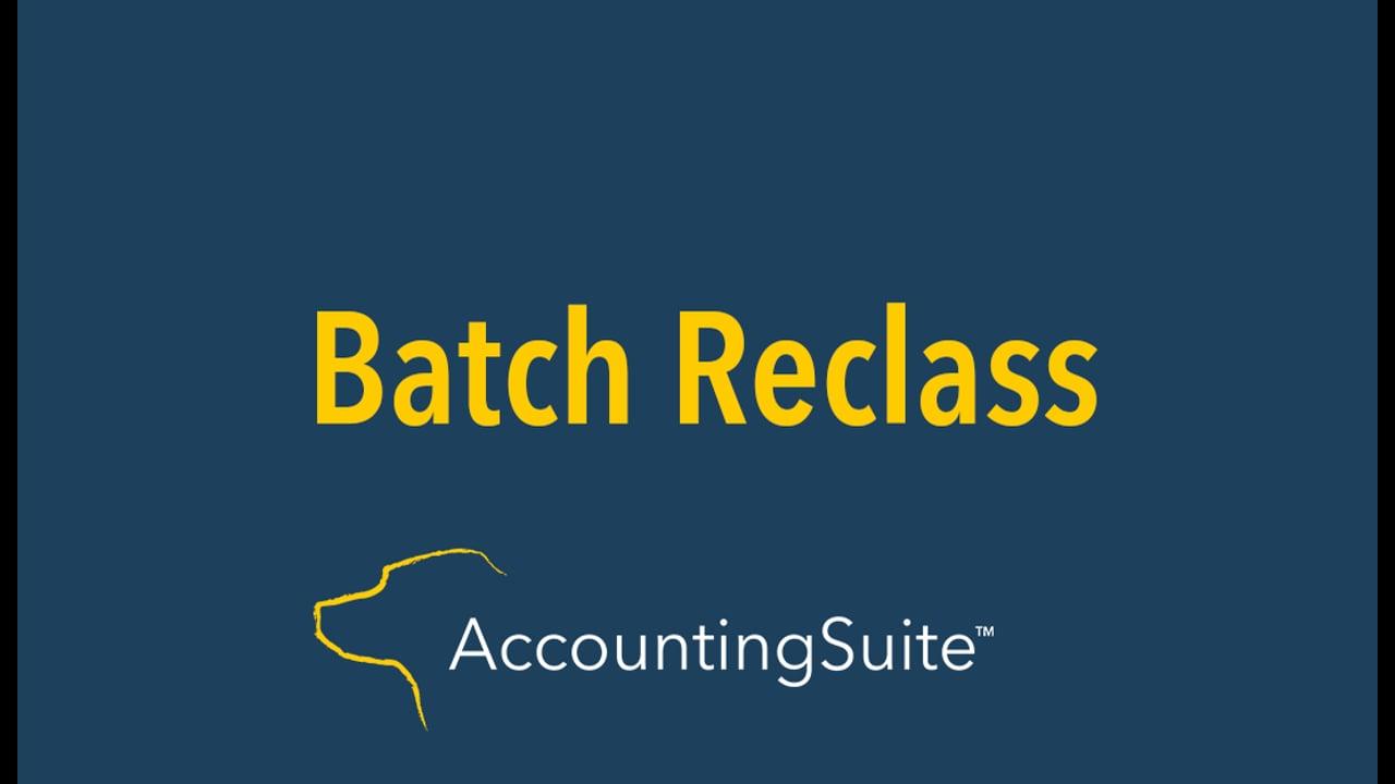 batch reclass