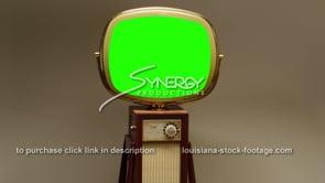 1739 Green screen Philco Predicta Continental slow dolly out