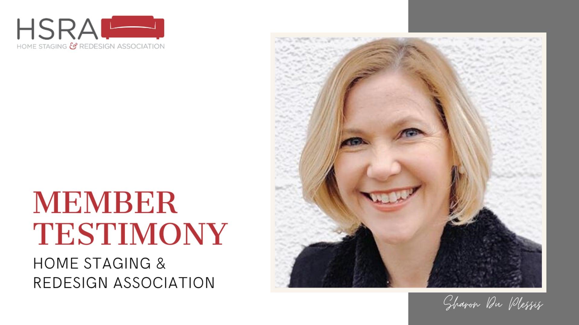 HSRA Member Testimony 2020 Sharon Du Plessis