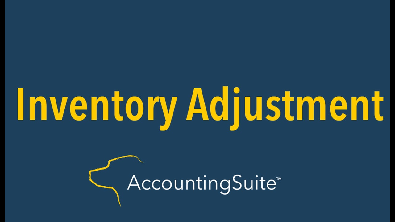 Inventory Adjustment