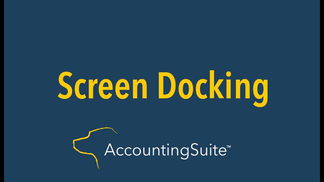 screen docking