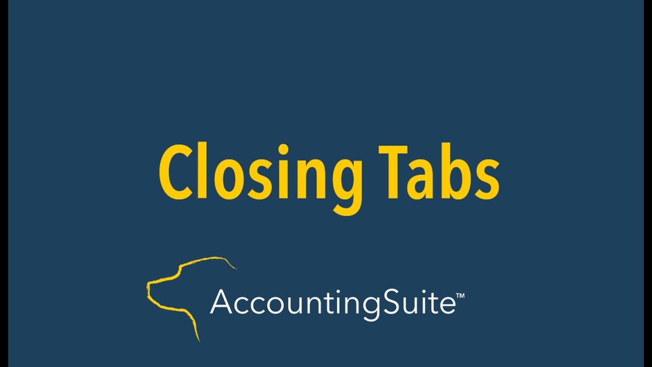 Closing Tabs
