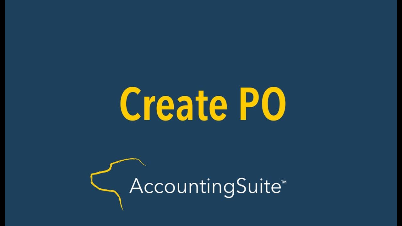 Create PO