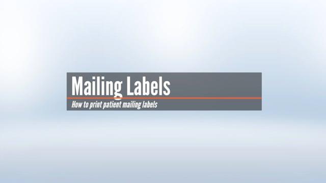 Patient Mailing Labels