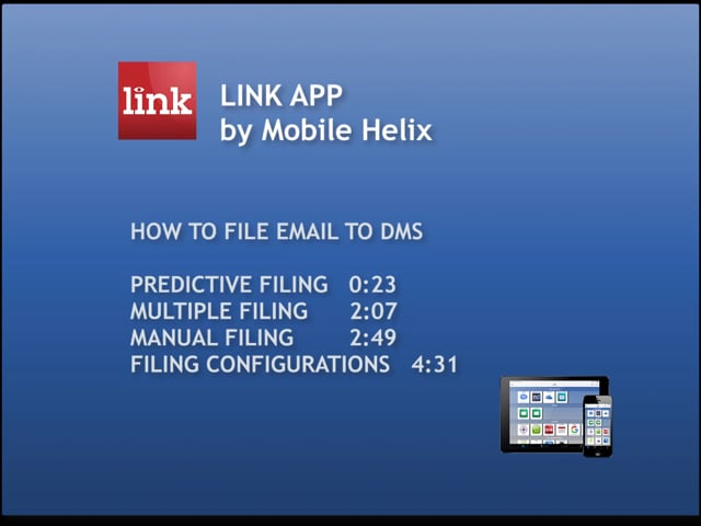 LINK App: How to File Email to DMS 6:12