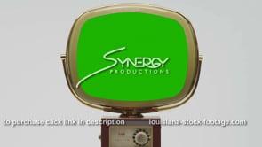 1749 Classic Philco Predicta Continental centered green screen replacement