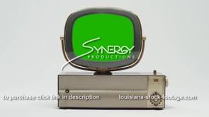 1812 Philco Predicta Princess Retro tv centered MS green screen