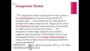 Meredith McCool: Integrative Model guest lecture