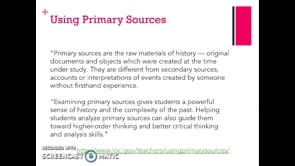 Meredith McCool: Primary Source Document Analysis guest lecture