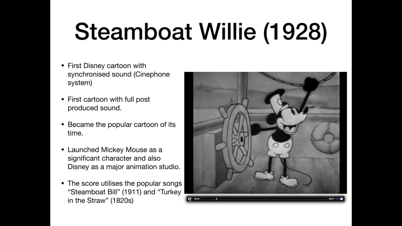 Film Music: Cartoon Animation in the golden age