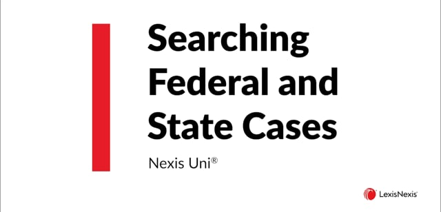 Searching Federal and State Cases Uni ES WB