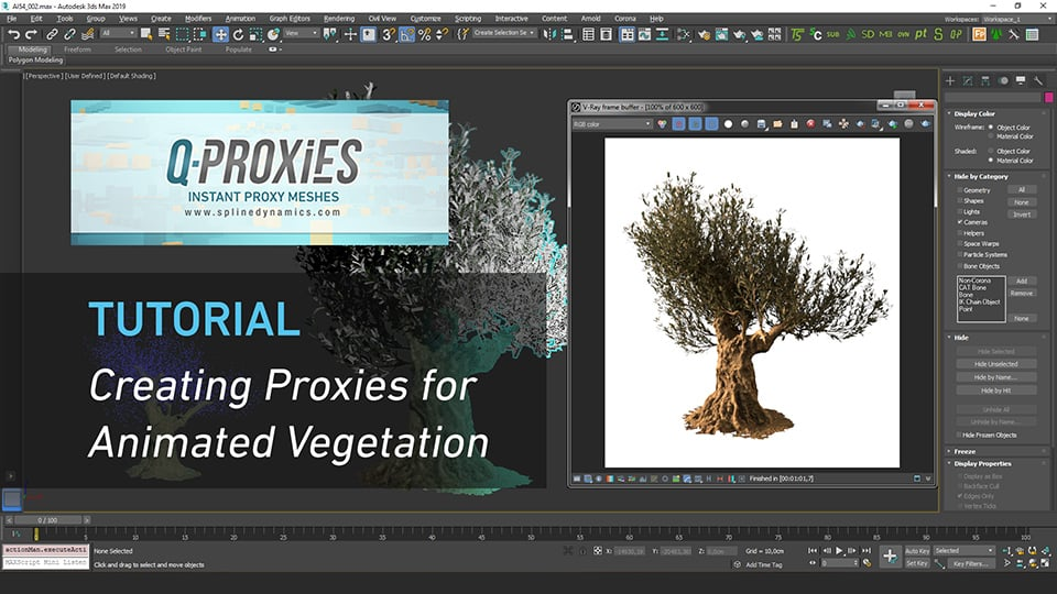 Q-Proxies Tutorial: Creating Proxies for Animated Vegetation